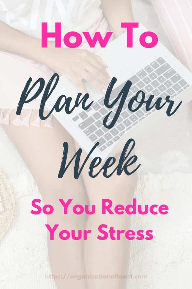 A weekly planning session is so important to getting organized and reducing your stress each week. Check out this free weekly planning guide! #planner #organized #timemanagement