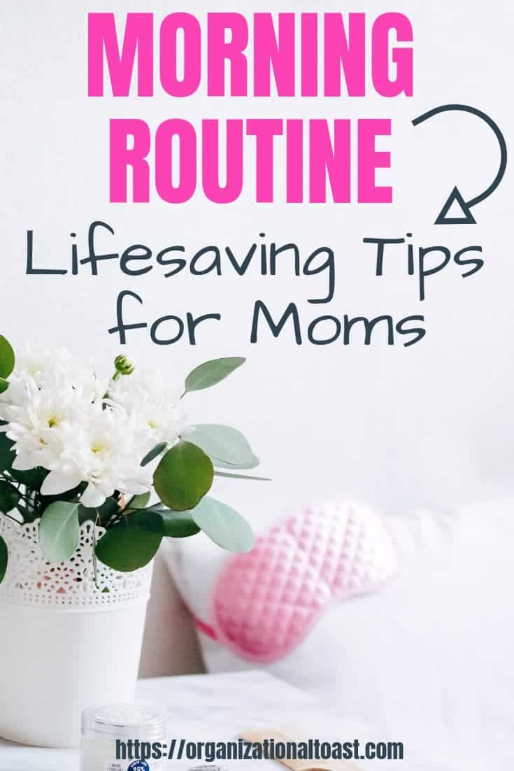 Check out these awesome tips for moms to help with their morning routine! This morning routine for moms helps you to be more productive, take time for self care, and build a strong routine for you and your kids! Great tips for morning routines before work!