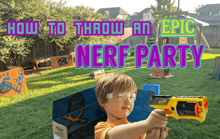 nerf birthday party | sleepover party | birthday party for boys