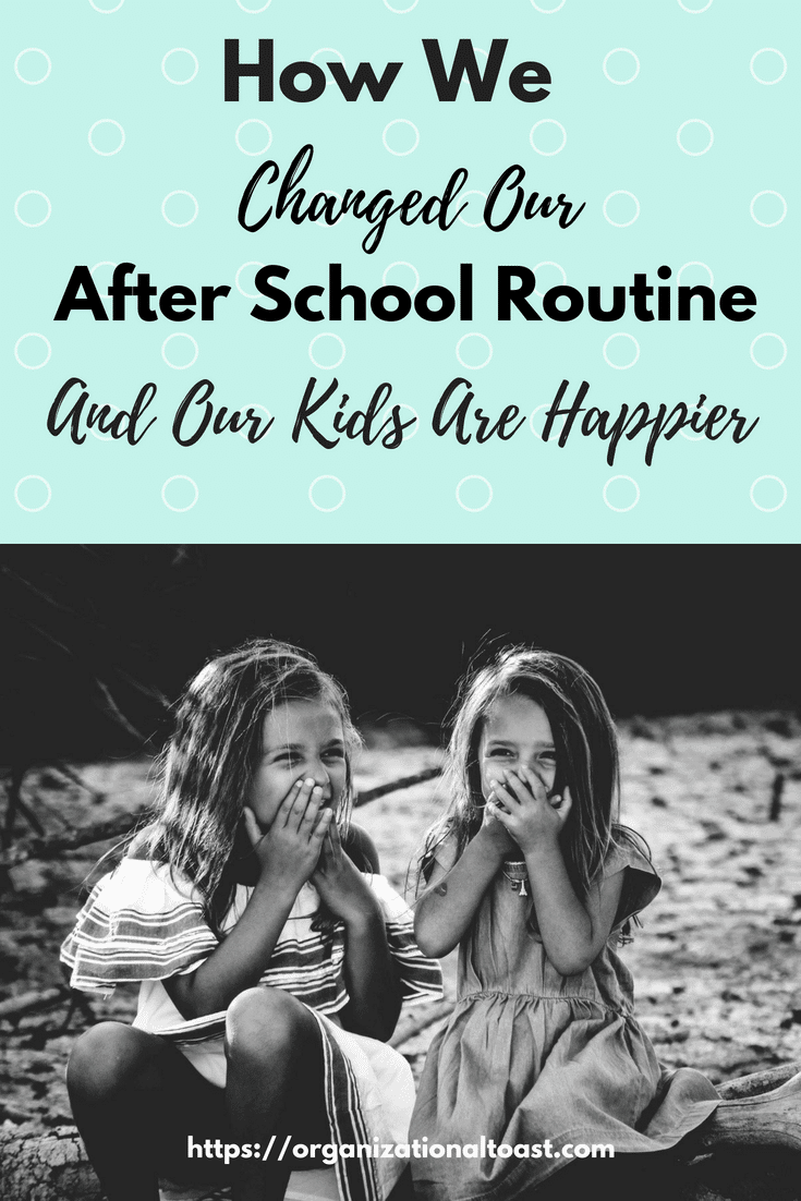 """The """"perfect"""" after school routine was just not working for us so we made some changes and now everyone is happier and more productive."""