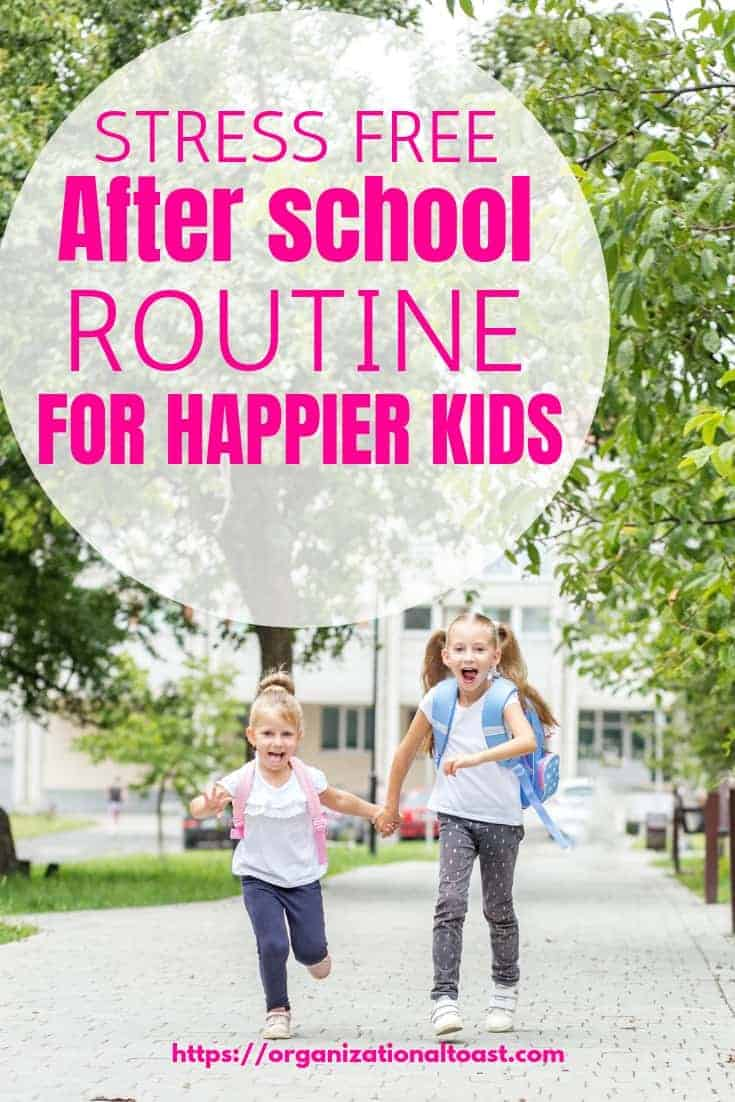 This after school routine is sure to make your kids happier. No more after school meltdowns and plenty of time for the kids to unwind and still get all the things done #routinesforkids #parentinghacks #afterschoolroutineforkids #afterschoolroutinetips