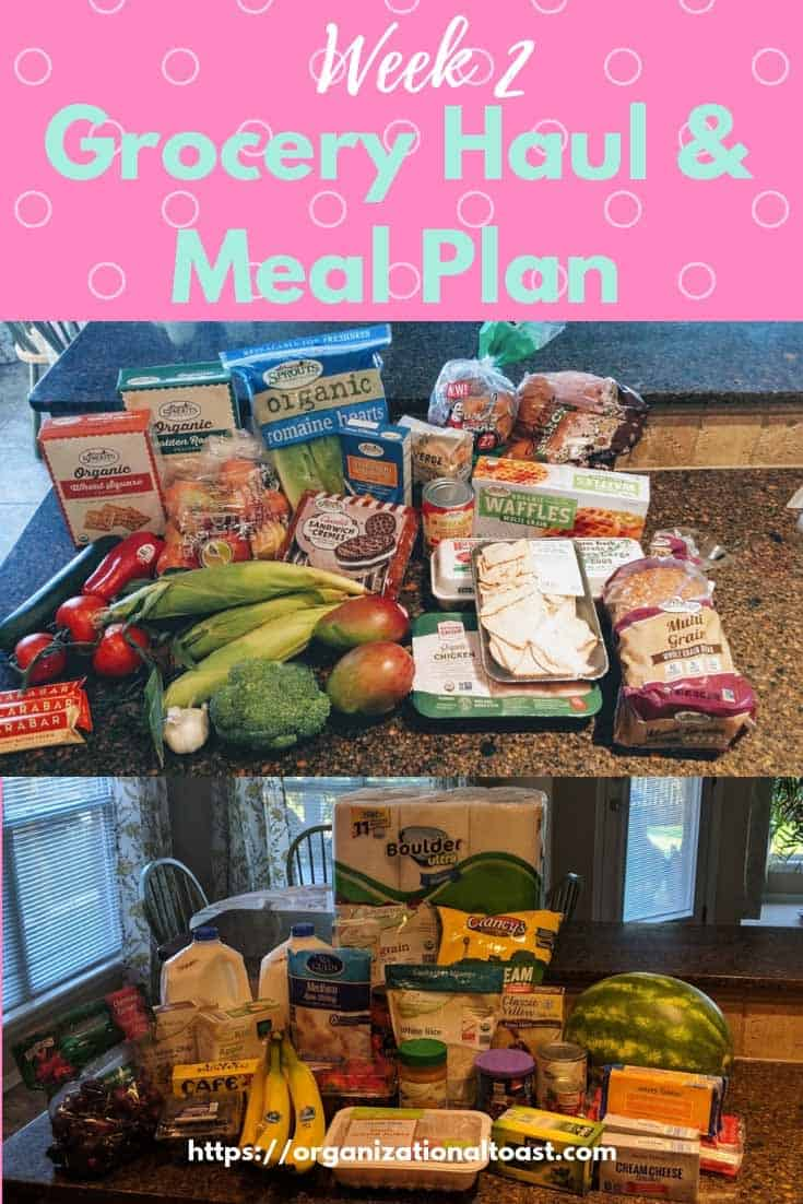 grocery haul and meal plan for a family of four