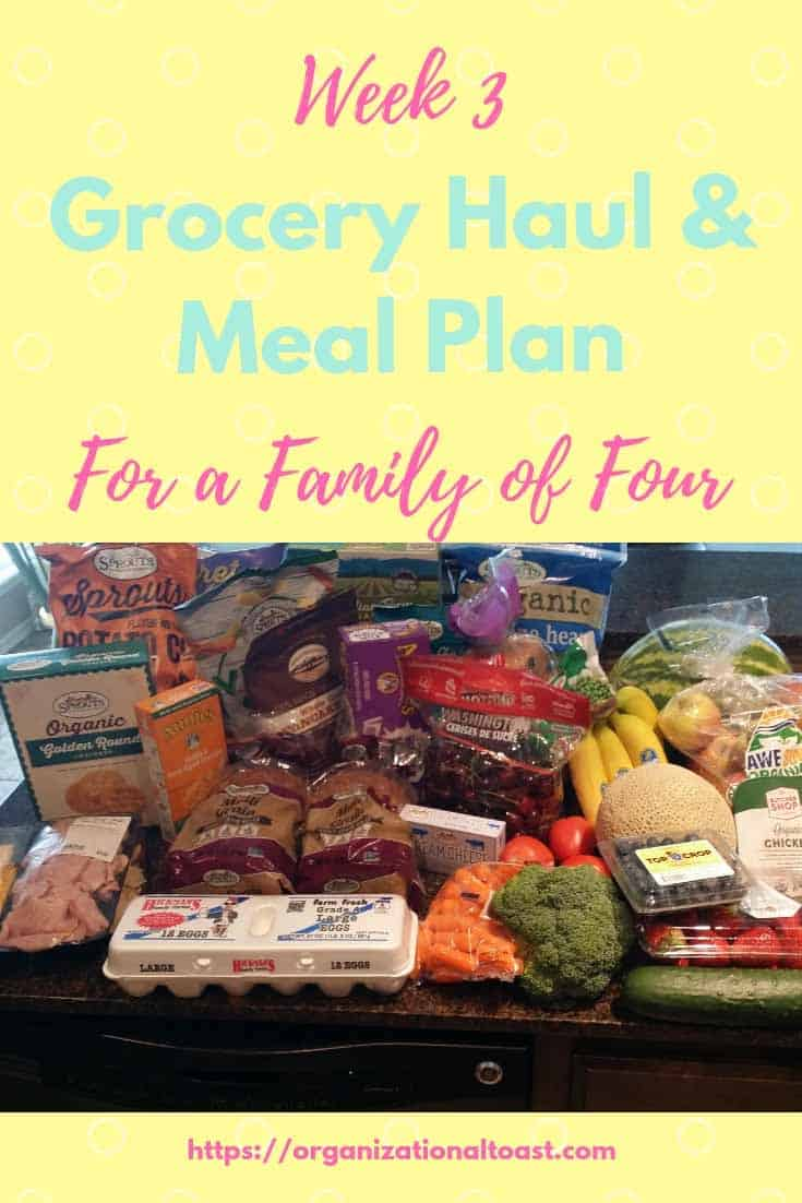 Grocery Haul and Meal Plan - Week 3 - Organizational Toast