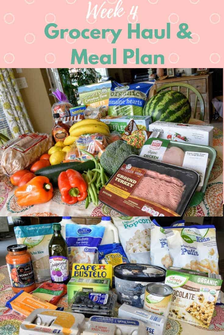 meal plann and grocery haul for a family of four