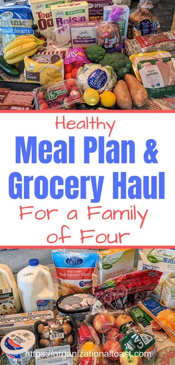 healthy meal plan and grocery haul