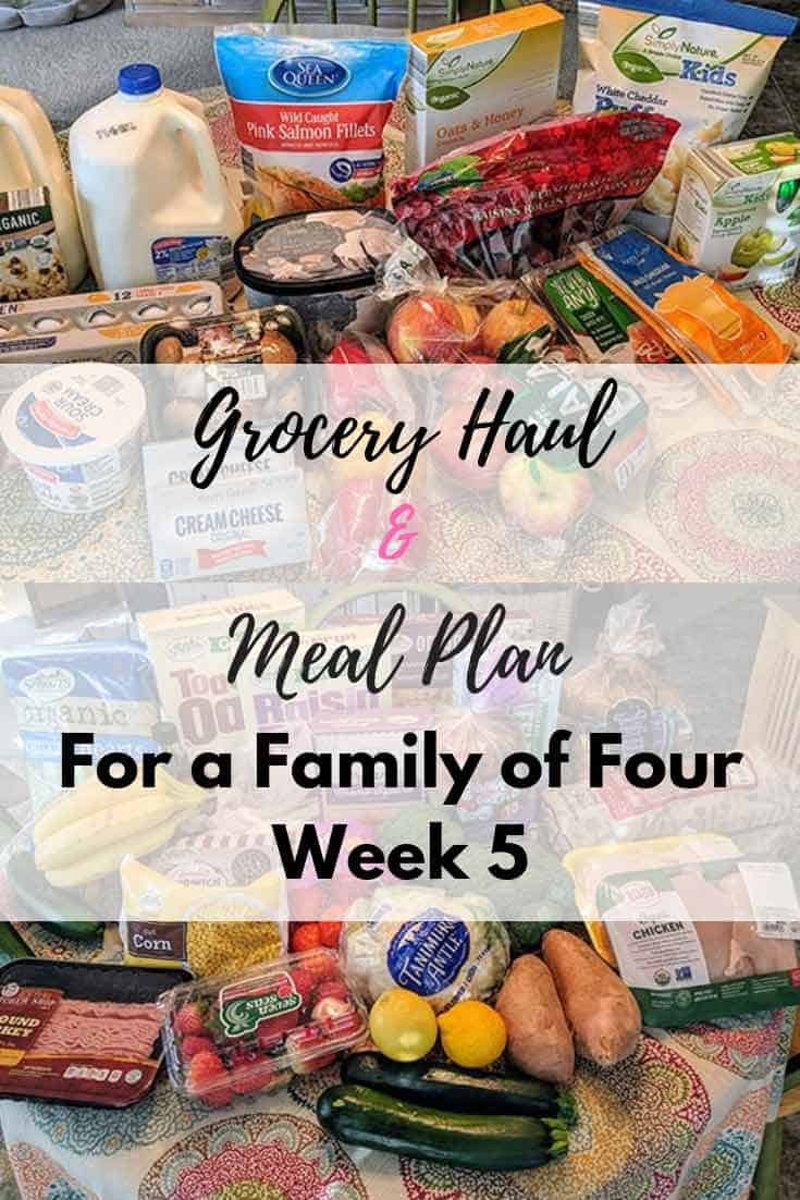 Grocery Haul and Meal Plan - Week 5 - Organizational Toast