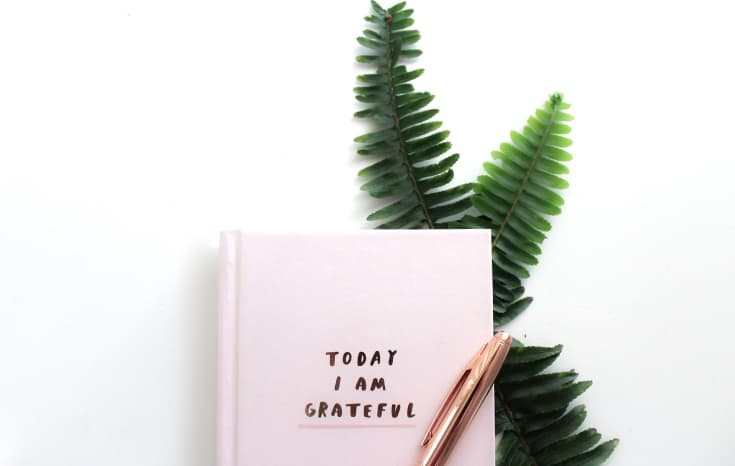 "Notebook with ""Today I am grateful"""