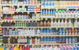 dairy case in the grocery store