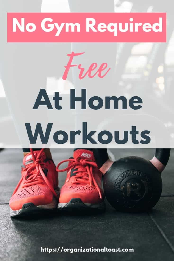 No Gym Required! Build a workout routine at home for free and crush your fitness goals! Learn how to stay on track and find a free workout routine that is right for you! #athomeworkout #exercise #freeworkouts