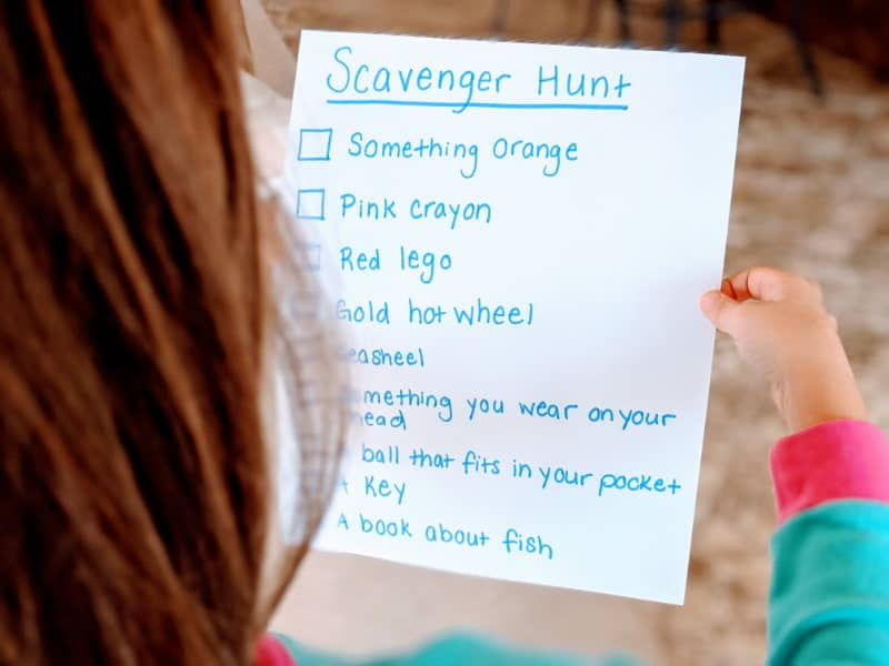 Scavenger Hunt - Indoor Activities for Kids