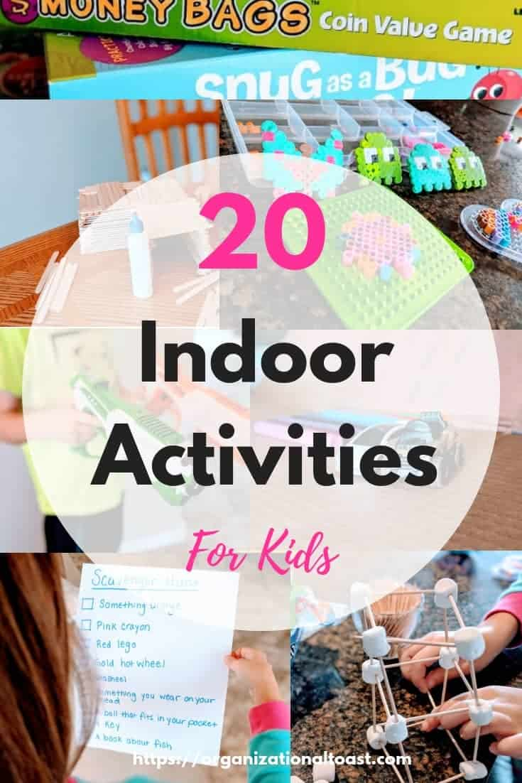 20 Indoor activities for kids that are sure to beat cabin fever! These are the easiest and funnest ideas! #indooractivities #kids #parentinghacks