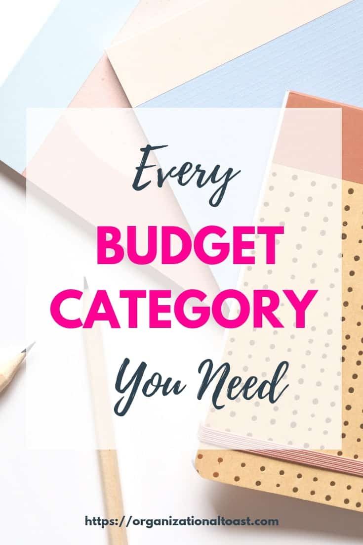 Master List of Personal Budget Categories