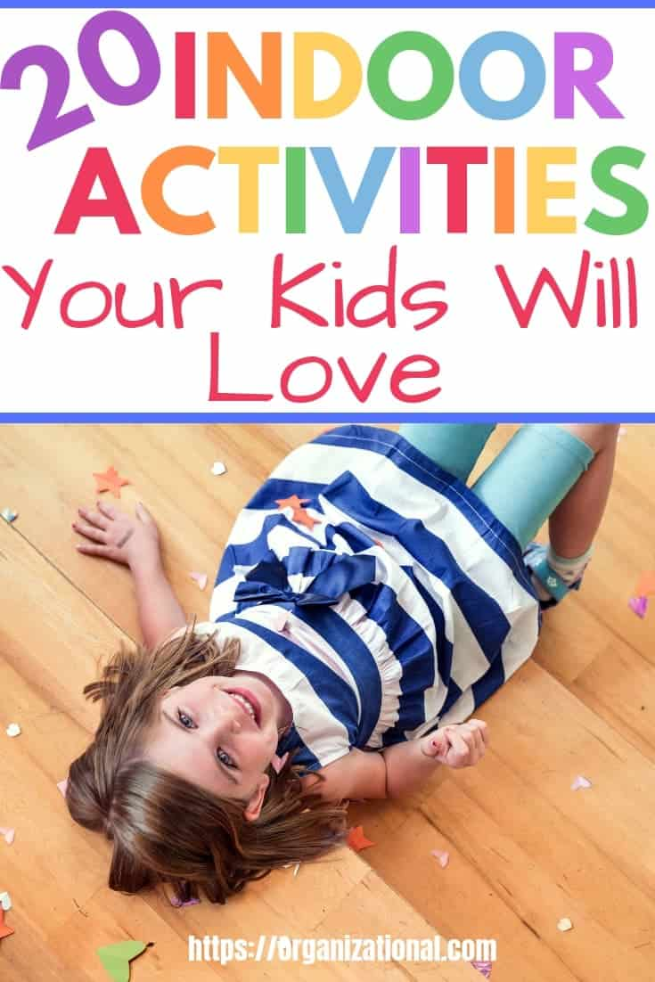 This list of of boredom busting activities are sure to keep your kids active and keep cabin fever at bay! Fun gross motor and fine motor activities for Winter (snow days) and Spring (rainy days)! Activities for toddlers, preschoolers and school aged kids!