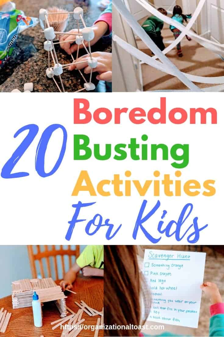 Super simple and super fun indoor activities for toddlers, preschoolers and school age children! These boredom busting activities are perfect for rainy days or snow days!