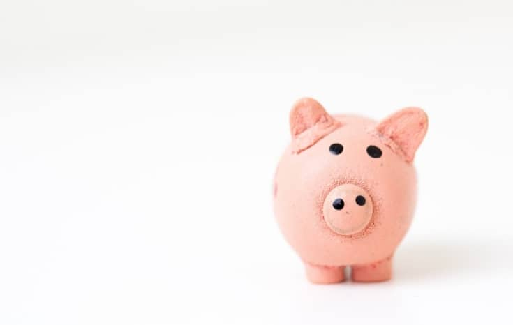 Piggy Bank for saving money for your emergency fund #debtfree #personalfinance