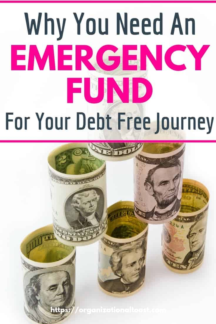 Why You Need An Emergency Fund For Your Debt Free Journey #personalfinance #savings