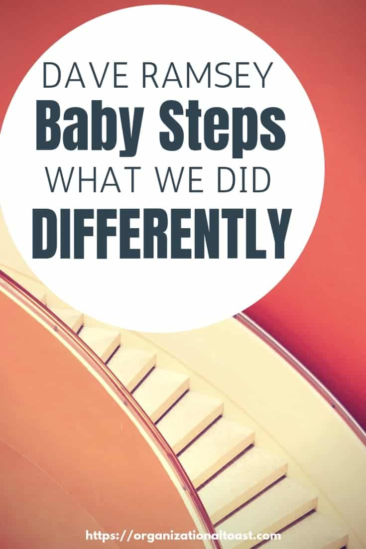 We love Dave Ramsey but we did a few things differently when we were paying down our debt. Find out what worked for us and help us pay off $40,000 in debt in one year on one income! #debtfree #babysteps