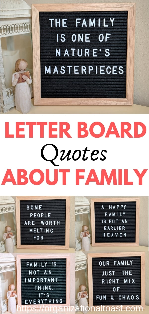 Best quotes about family for your letter board. #familyquotes #letterboardquotes