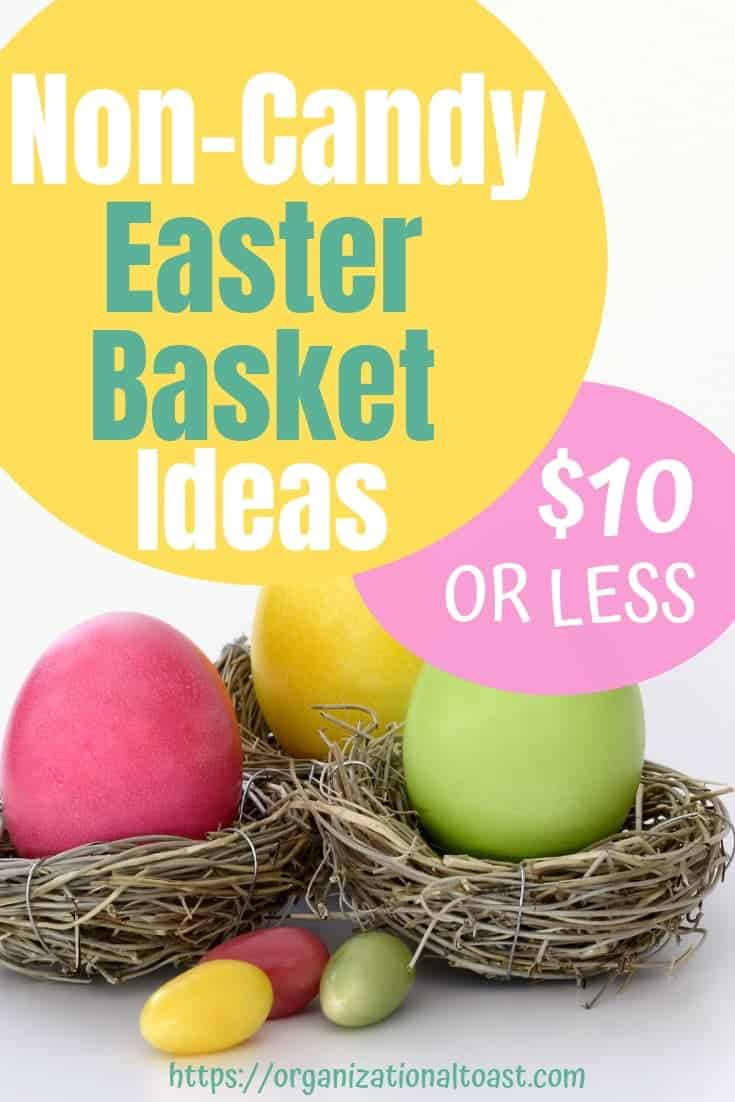 Non-Candy Easter Basket Ideas for kids of all ages! This list of budget friendly Easter Basket ideas is sure to have something for every child in your family!