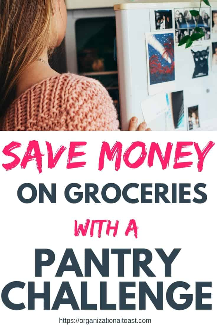 An eat down the pantry challenge is a great way to save money on groceries and clean out your pantry and freezer! #budget #frugalliving