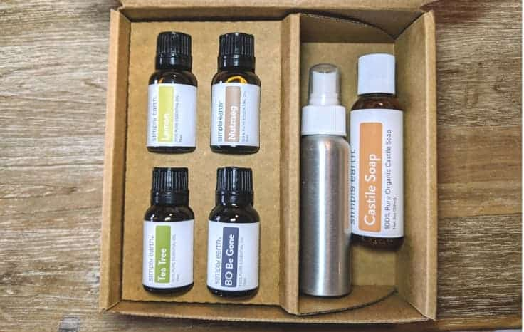 Simply Earth Essential Oils in Box