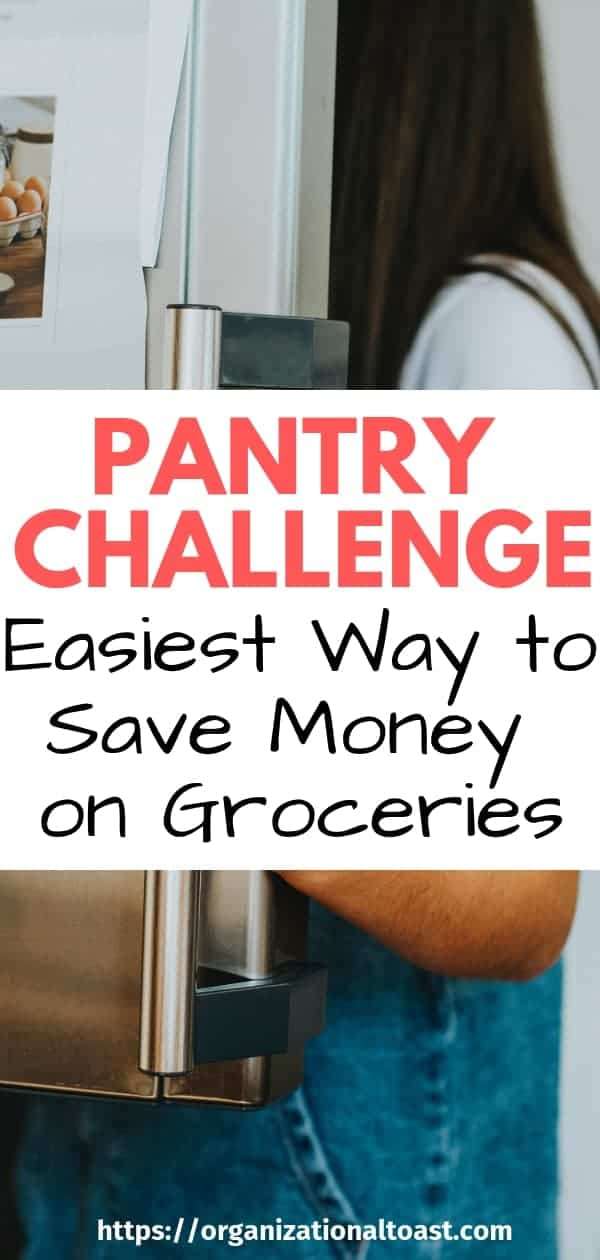 A pantry and freezer challenge is a super easy way to save money on groceries. This frugal tip is easy and effective!