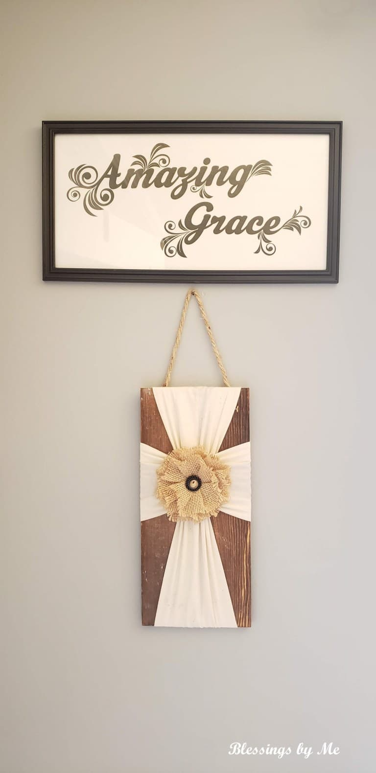 DIY Amazing Grace Sign