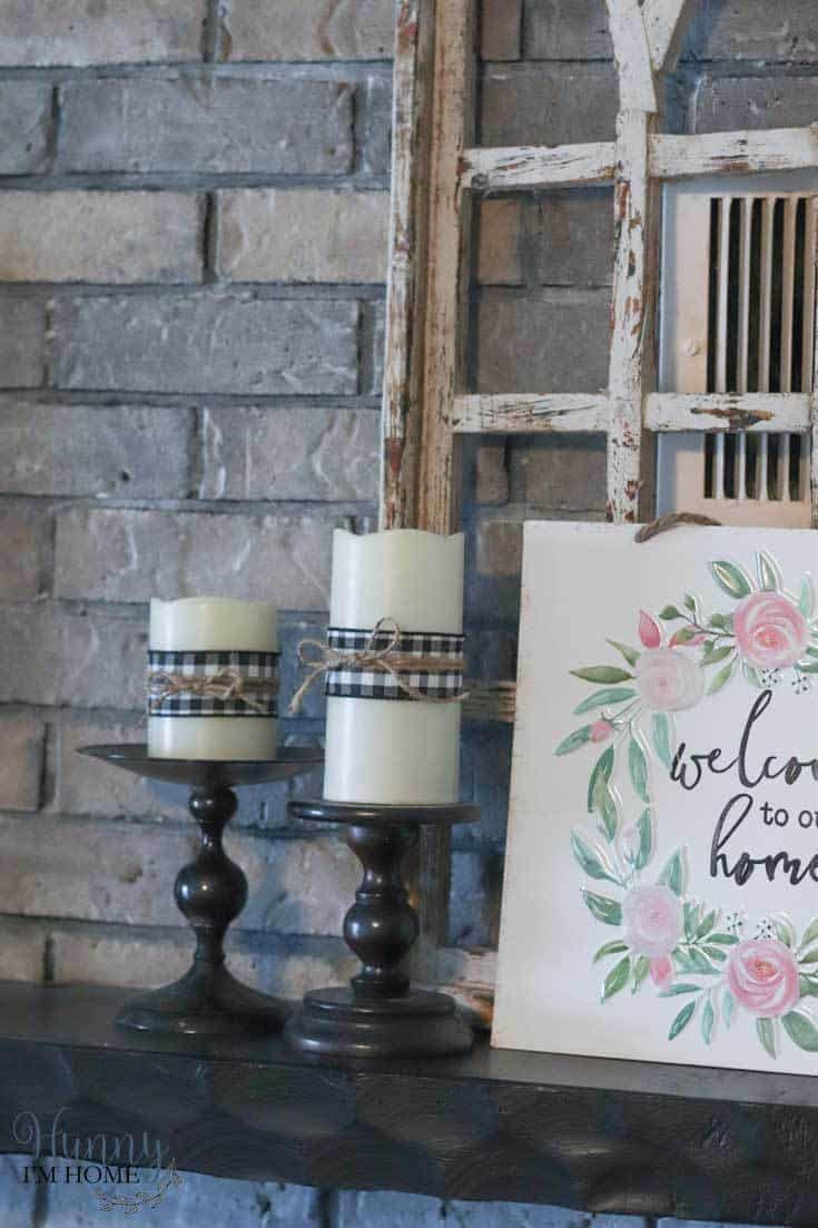 DIY Farmhouse Candles