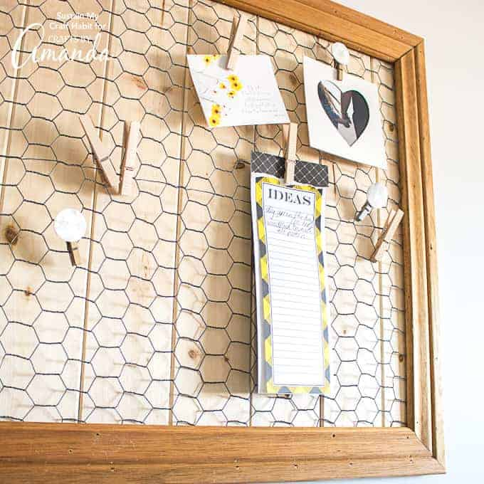 DIY Farmhouse Memo Board