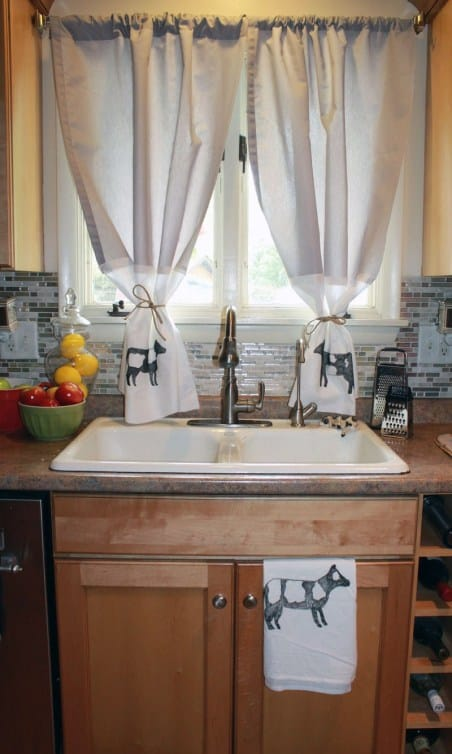 No Sew Farmhouse Curtains