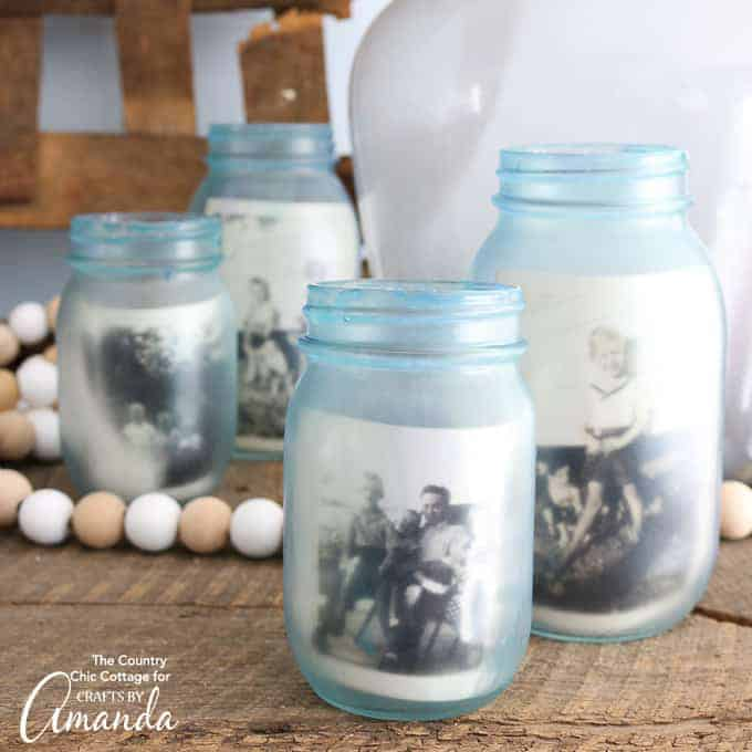 DIY Mason Jar Photo Frames