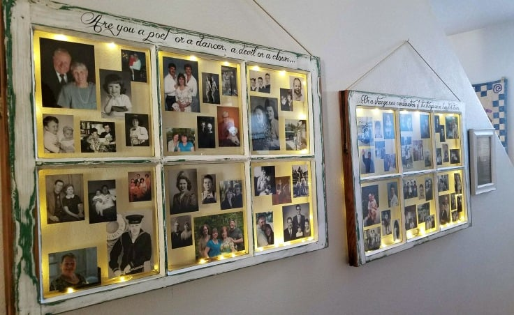 DIY Farmhouse Windows to the Past Photo Frame