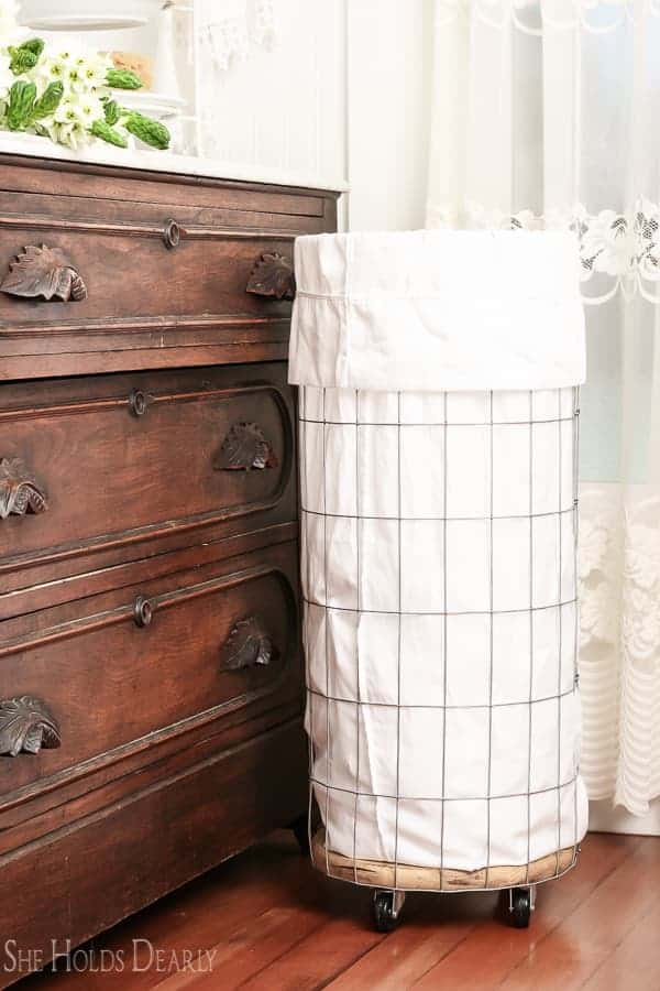 DIY Farmhouse Clothes Hamper