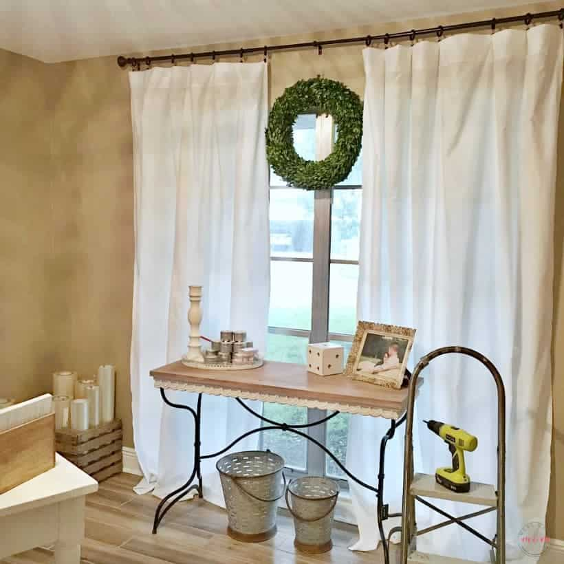 DIY Farmhouse Curtains