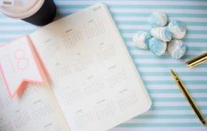 calendar for meal plans