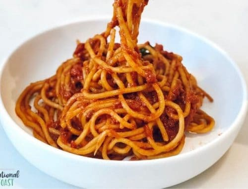 spaghetti dish from meal plan