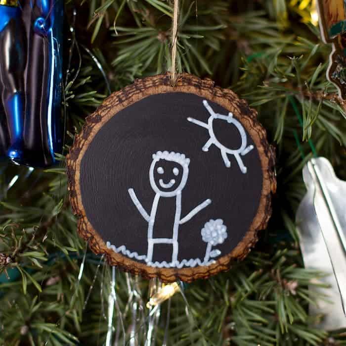 Easy DIY Chalkboard Christmas Ornament