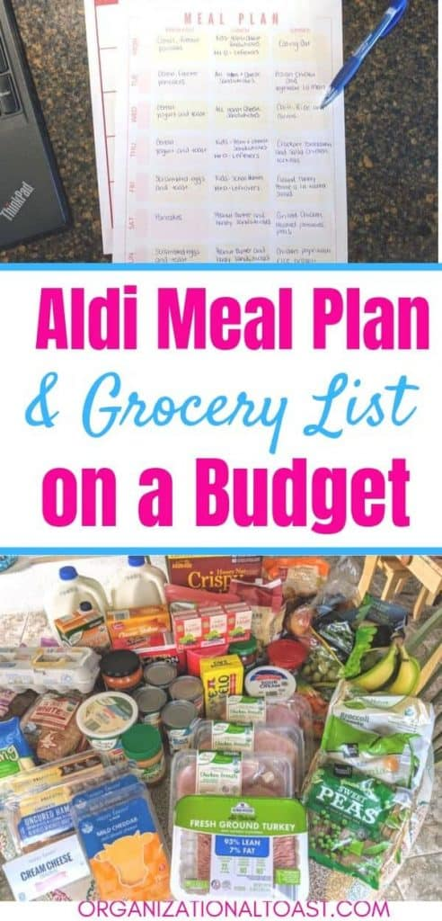 Aldi Meal Plan And Grocery List
