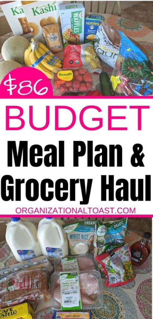 $86 Budget Meal Plan and Grocery List