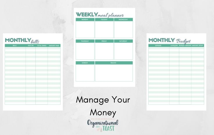 budgeting planner pages