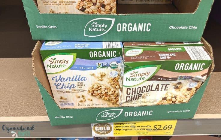 aldi organic granola bars