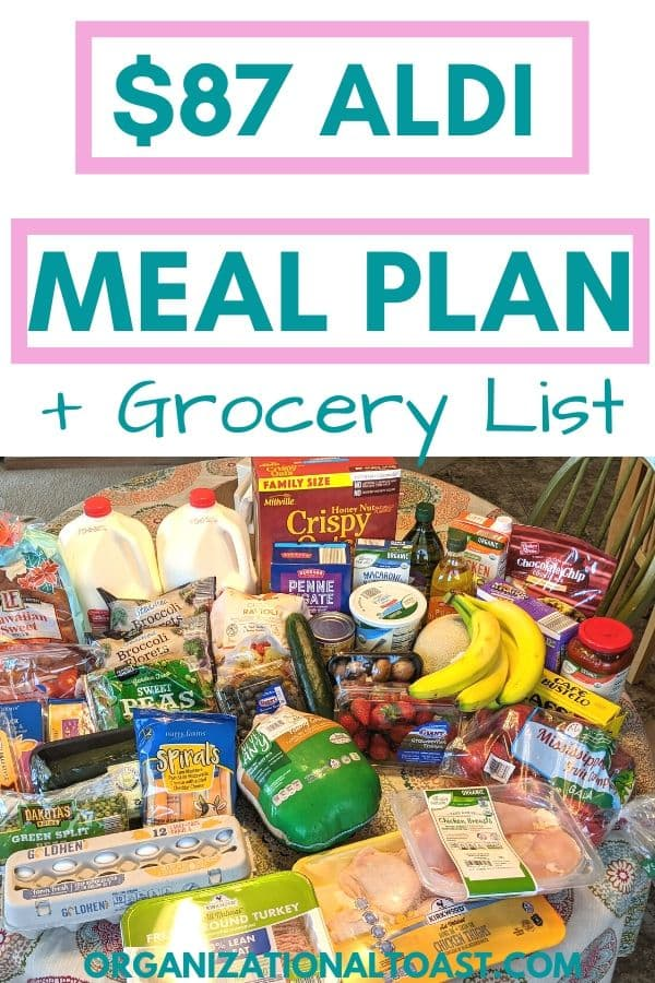 $87 Aldi Meal Plan + Grocery list