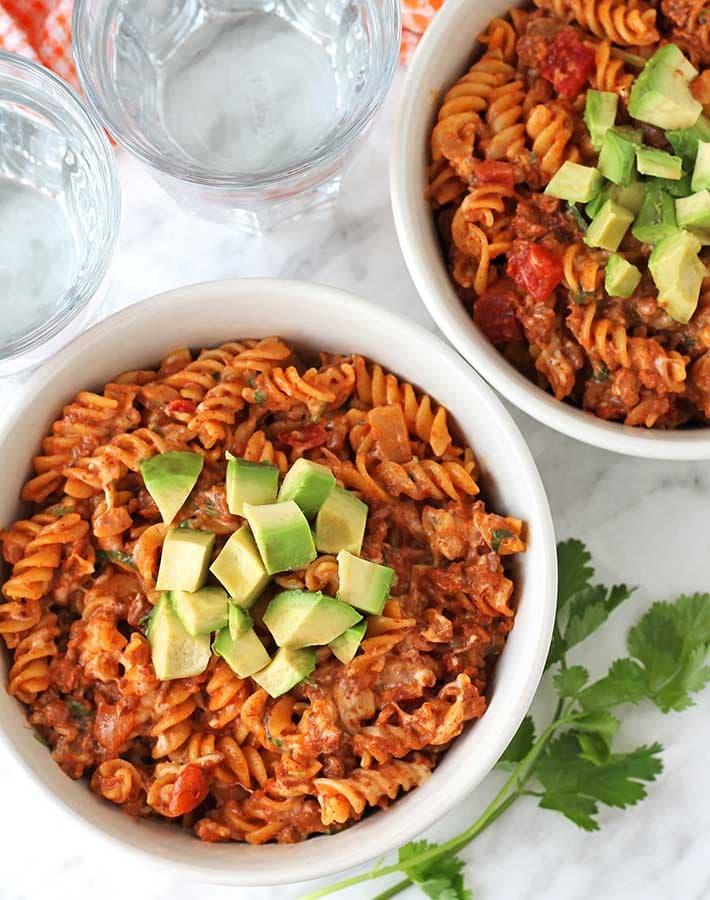 vegan taco pasta