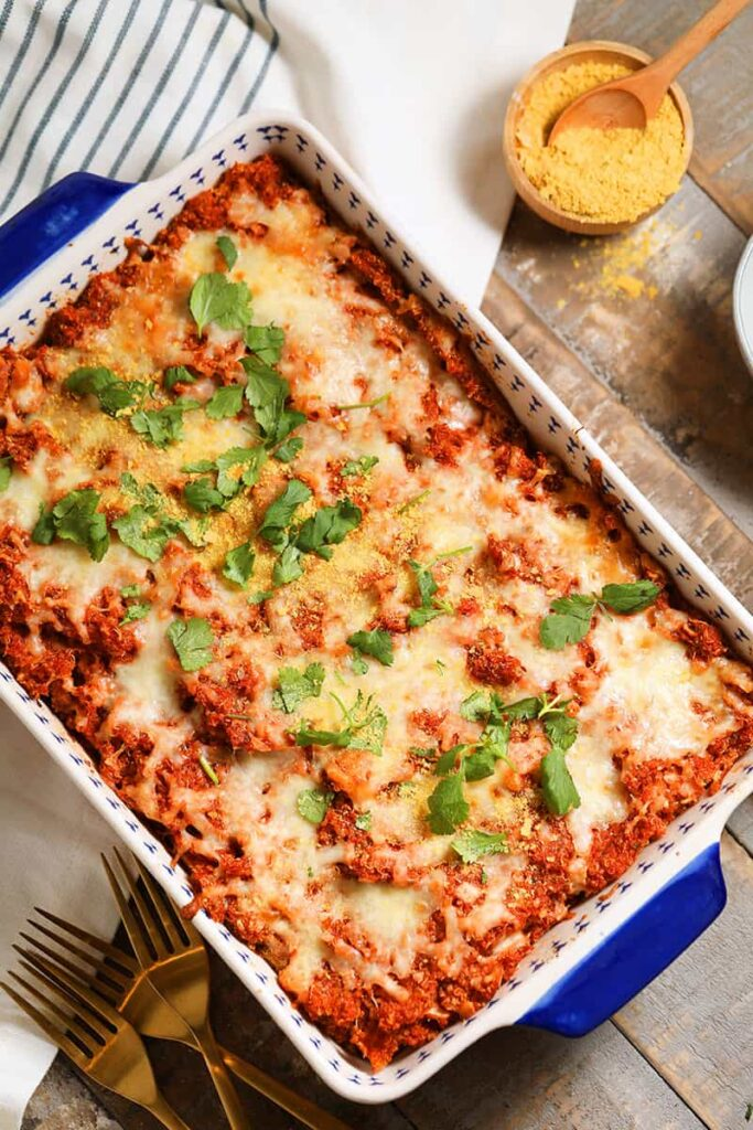 vegetarian quinoa pizza casserole