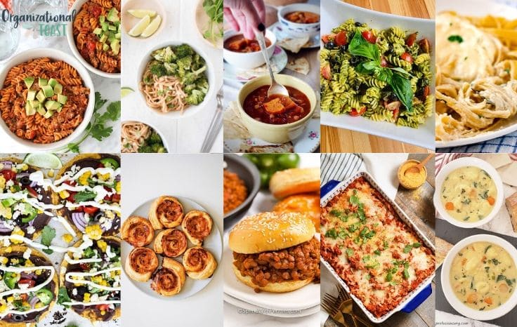 vegetarian meals for kids collage