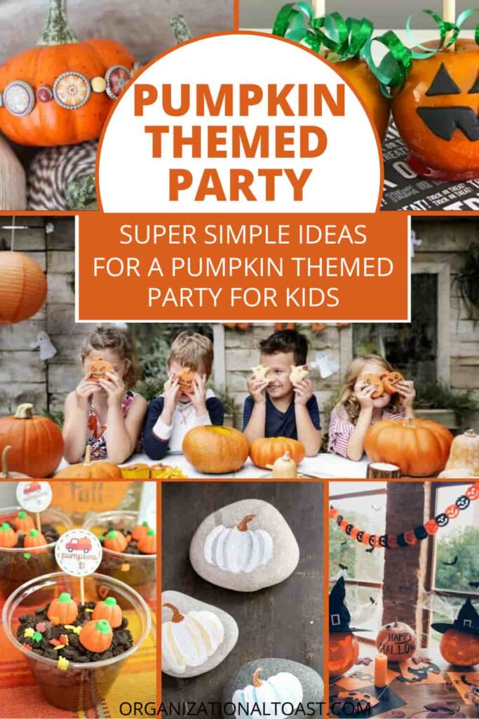 pumpkin themed party ideas collage