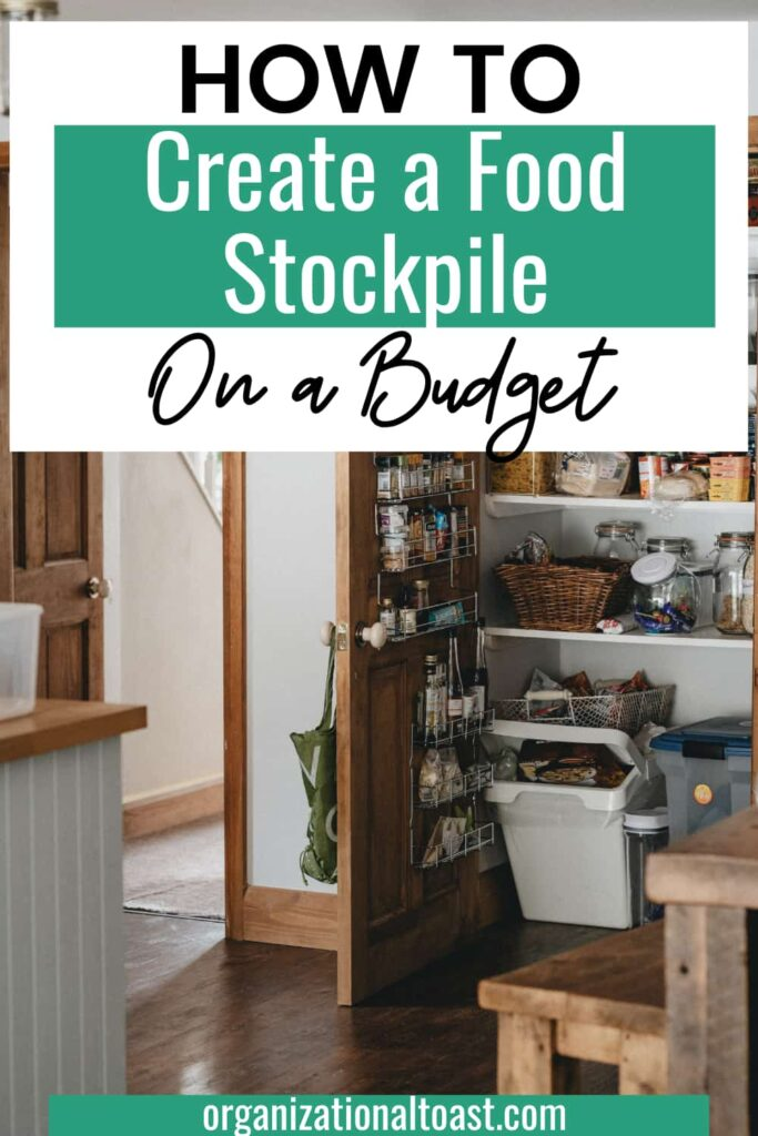 How to create a food stockpile on a budget graphic