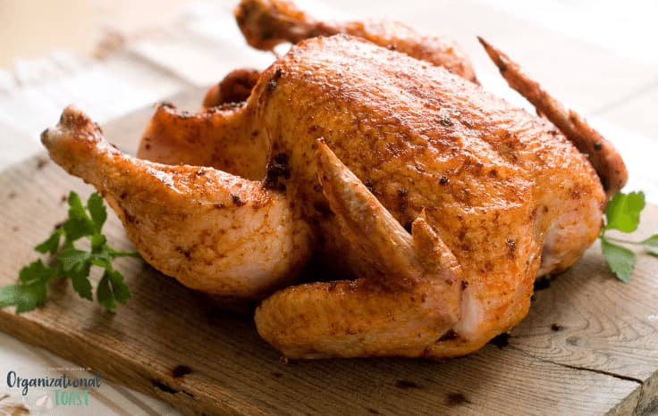 Walmart roasted chicken dinner
