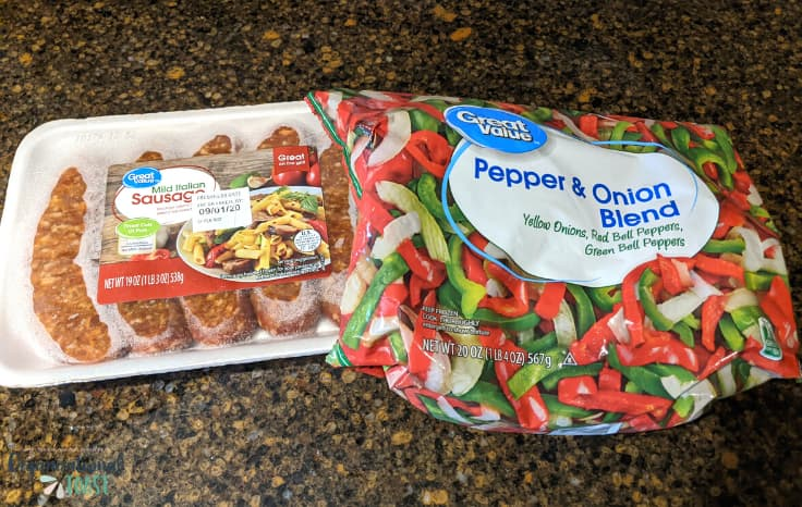 Walmart sausage and peppers