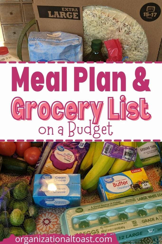 Meal Plan & Grocery List on a Budget